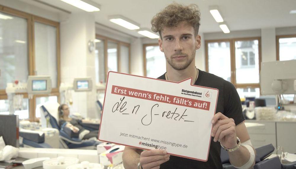 #MissingType: Leon Goretzka spendet Blut