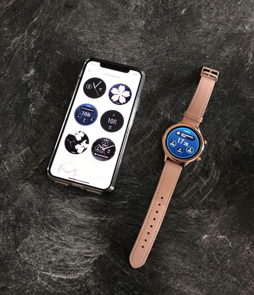 TicWatch C2: Austauschbare Looks und Designs für das Display.