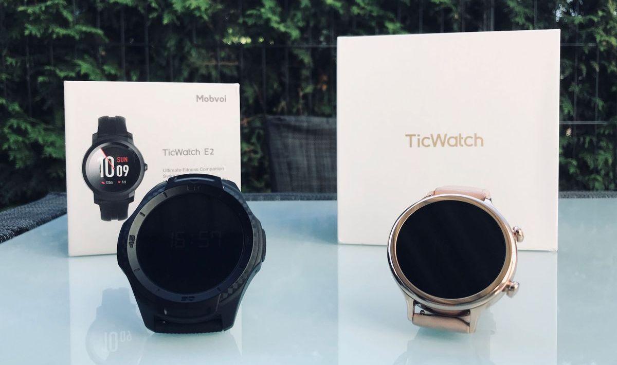 TicWatch S2 (links) und C2 (rechts)