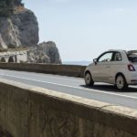 Mit dem Fiat 500 Dolcevita in Rom