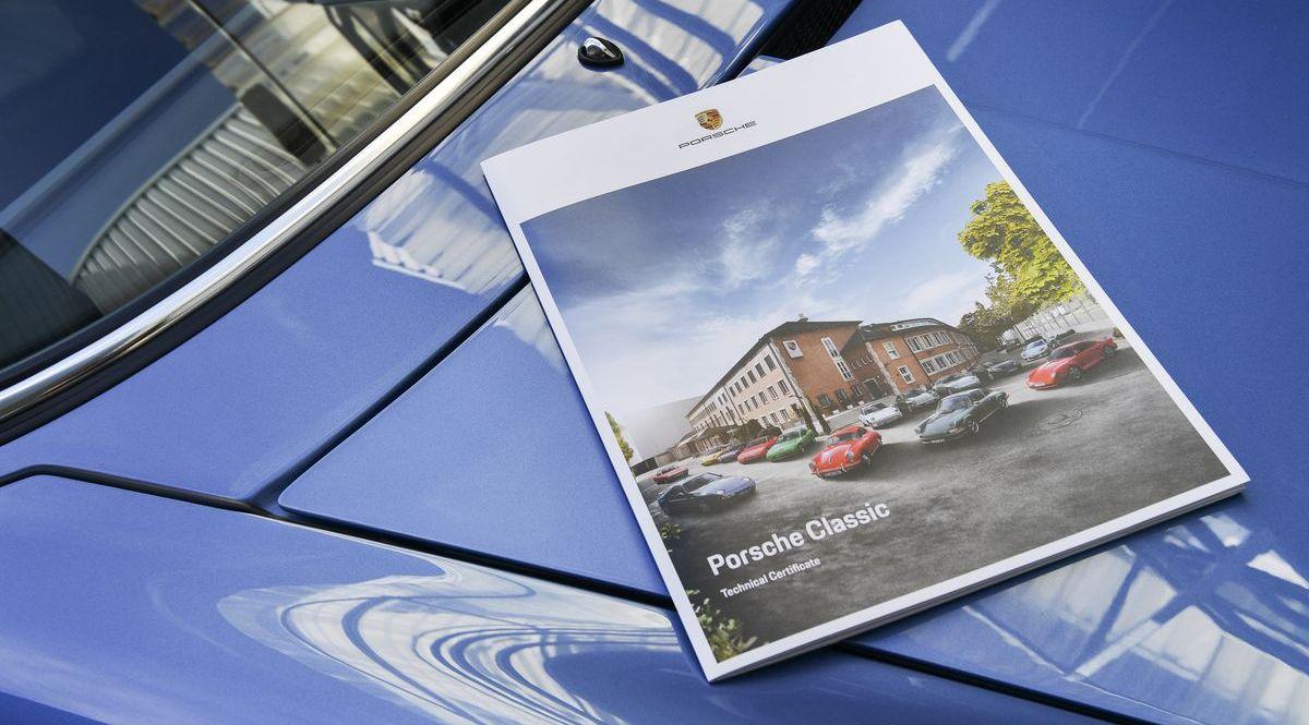 Technisches Zertifikat von Porsche Classic