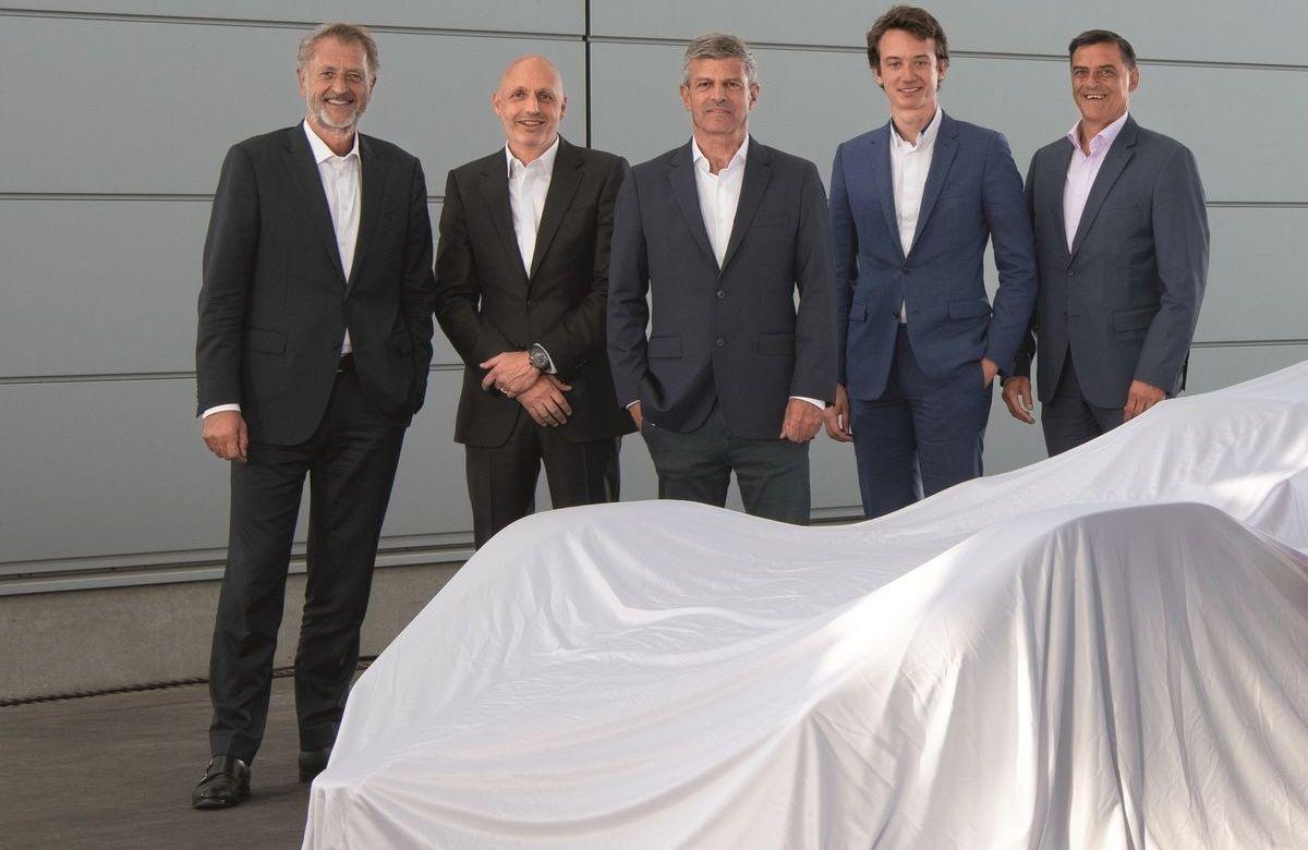 Zusammenarbeit von Porsche und Tag Heuer: Detlev von Platen, Stéphane Bianchi, Fritz Enzinger, Frédéric Arnault, Michael Steiner