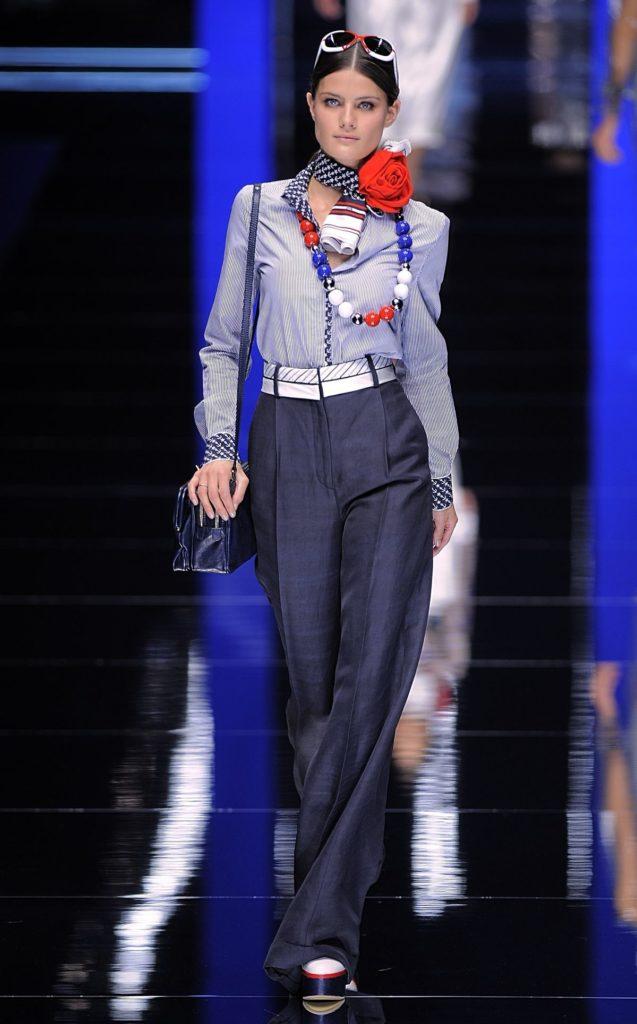 Maritimer Look von Dolce&Gabbana (ddp images)