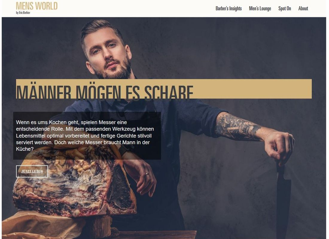 "Blog für Gentlemen: ""Men's World by Eric:Barbier"""