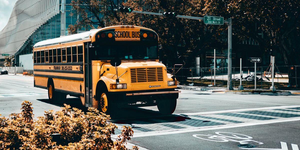 In den USA ist es untersagt, an Schulbussen mit eingeschaltetem Blinker vorbeizufahren oder sie zu überholen.