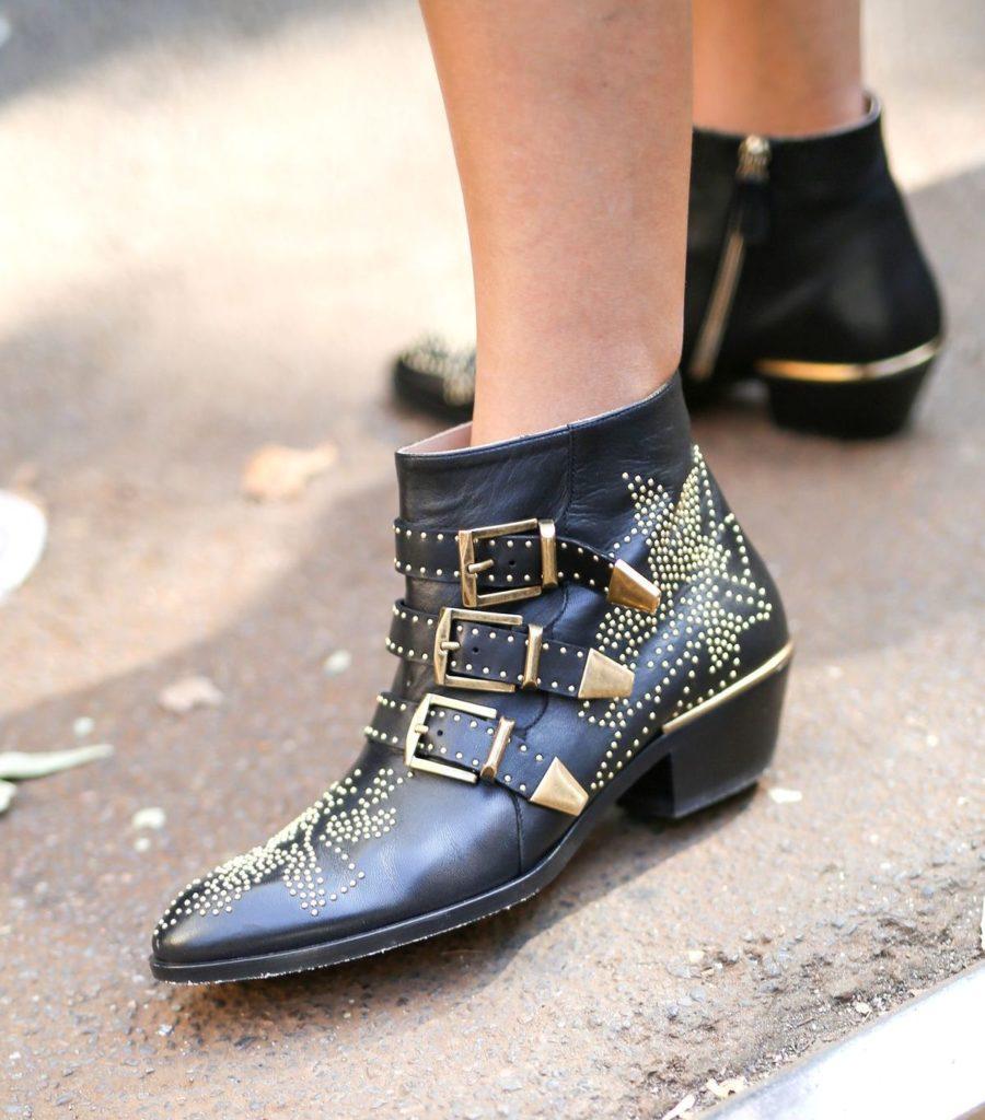 """Nieten-Ankle Boot """"Susanna"""" von Chloé während der Milan Fashion Week Spring (ddp images)"""
