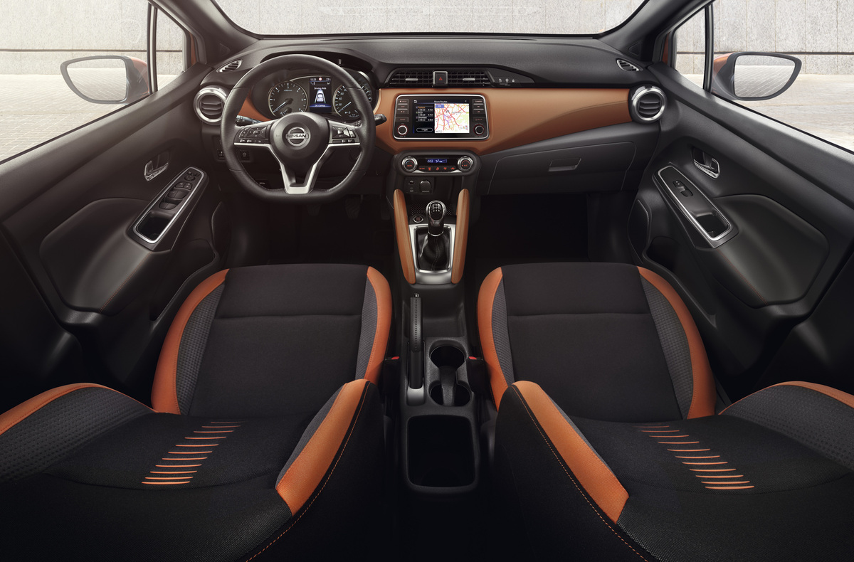 Der Innenraum des aktuellen Nissan Micra.