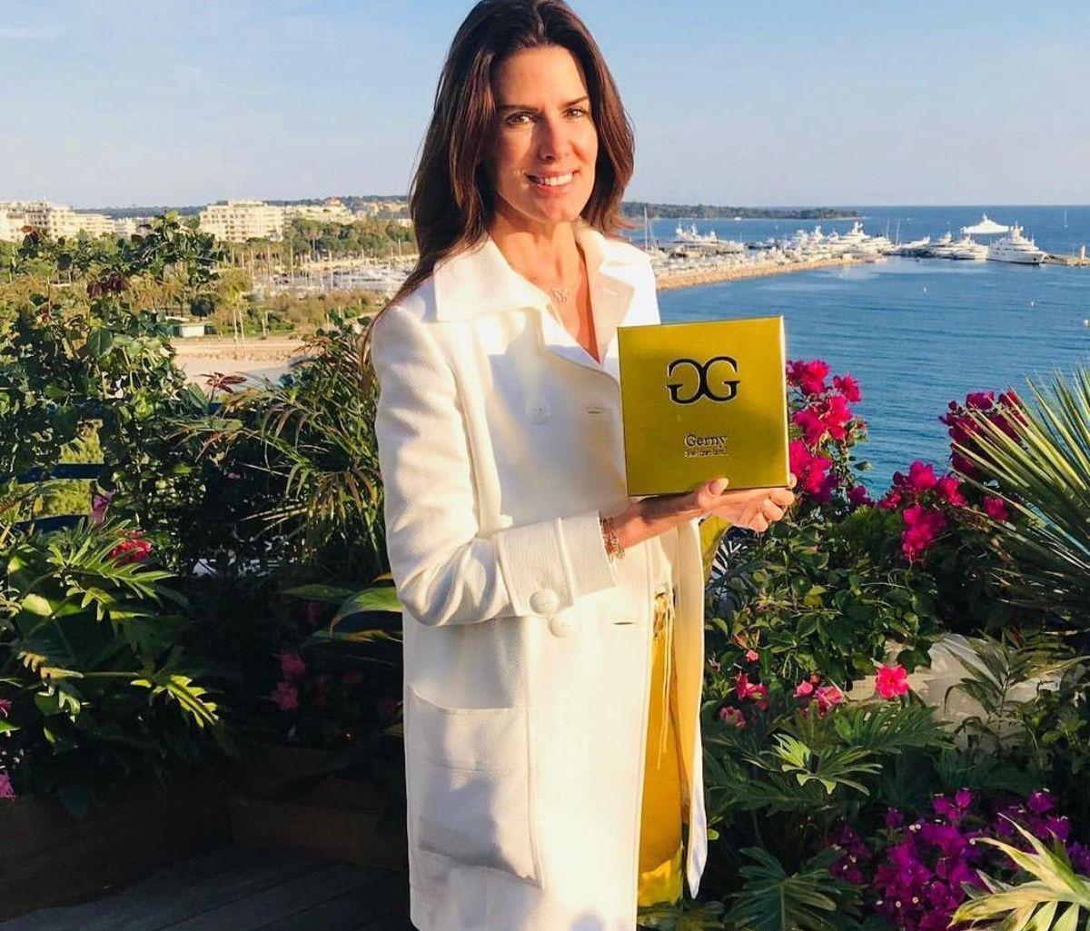Auch Luxus-Society-Lady Christina Estrada nutzt die Kosmetikprodukte von Dr. Gerny.