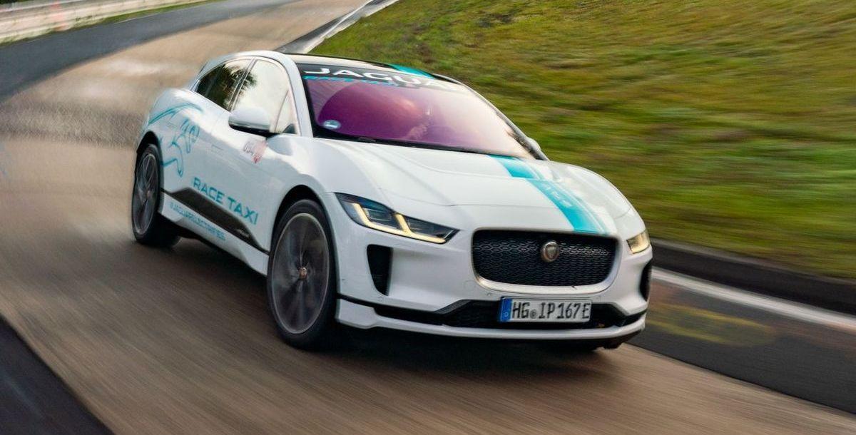 Jaguar I-Pace als Elektro-Renntaxi auf dem Nürburgring