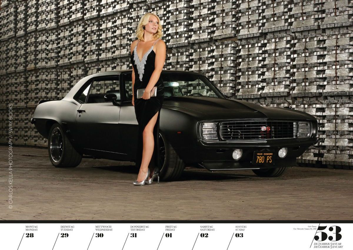 Kalender Girls & Legendary US-Cars 2020