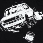 Künstler-Shirt mit dem klassischen Golf GTI
