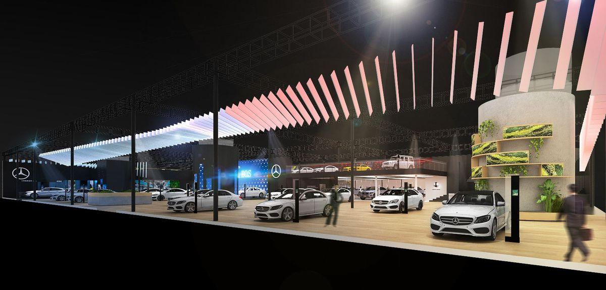 So sieht der Stand von Mercedes-Benz auf der Auto Guangzhou 2019 aus.