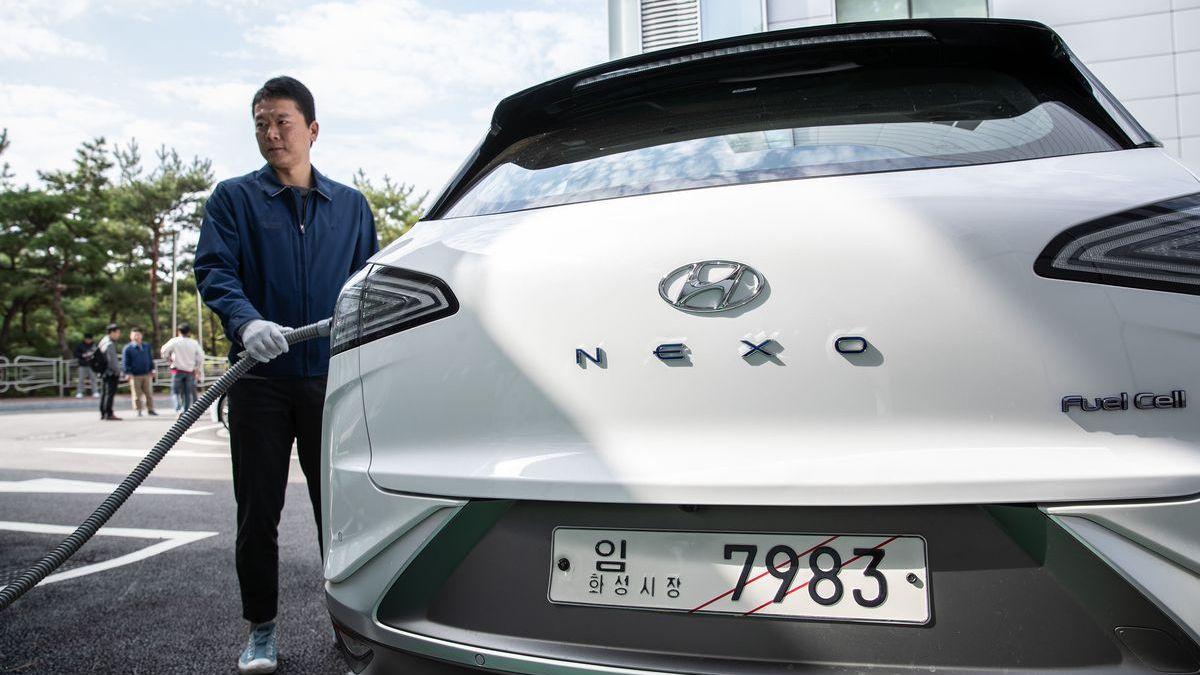 Den Hyundai Nexo gibt es bereits mit Wasserstoff-Antrieb.