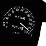 Das Tachometer-Shirt für Retro-Fans