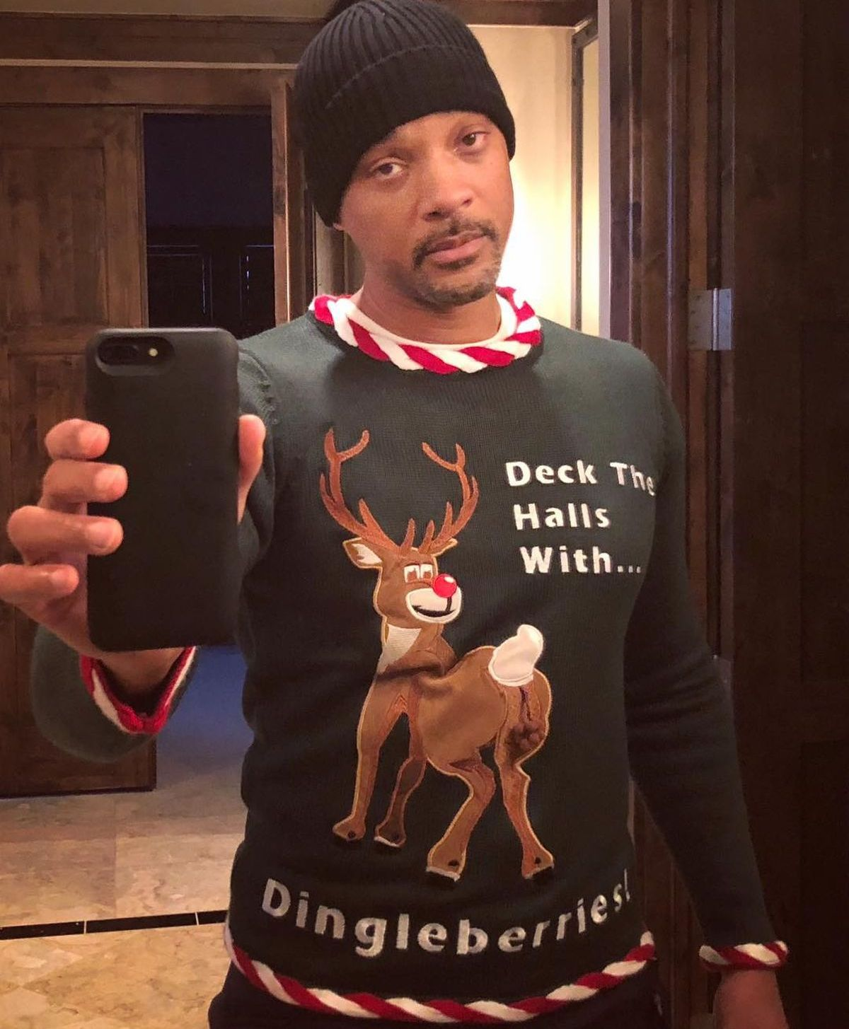 Will Smith trägt Ugly Christmas Sweater (ddp images)