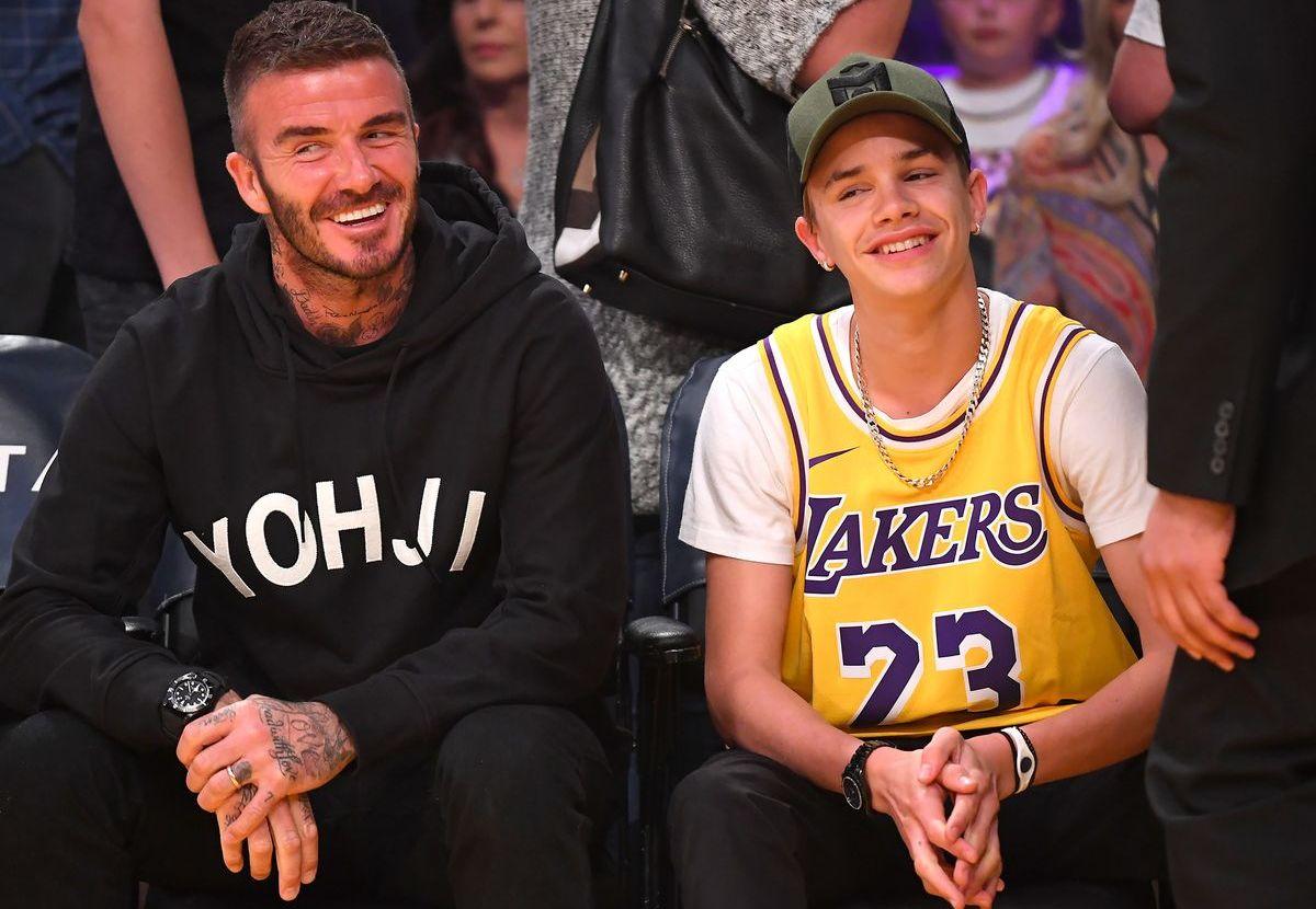 David und Romeo Beckham (ddp images)