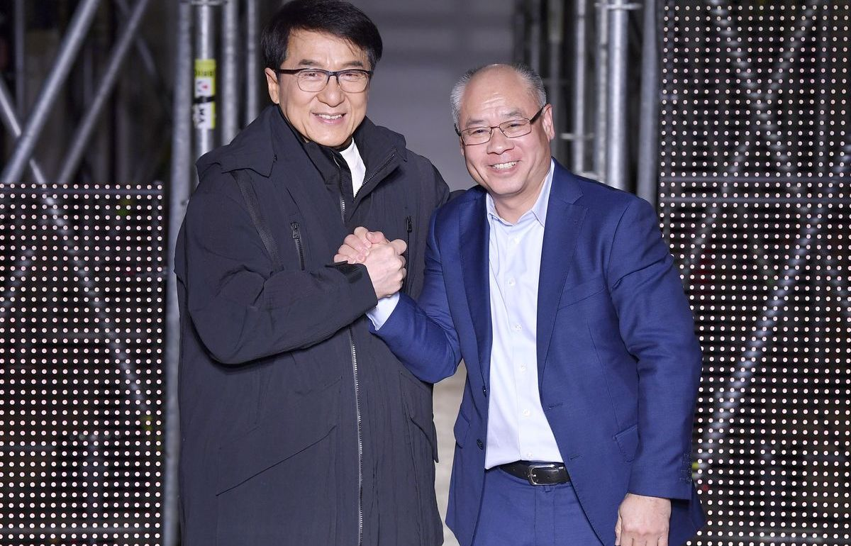Jackie Chan (links) und Li Ning (rechts)