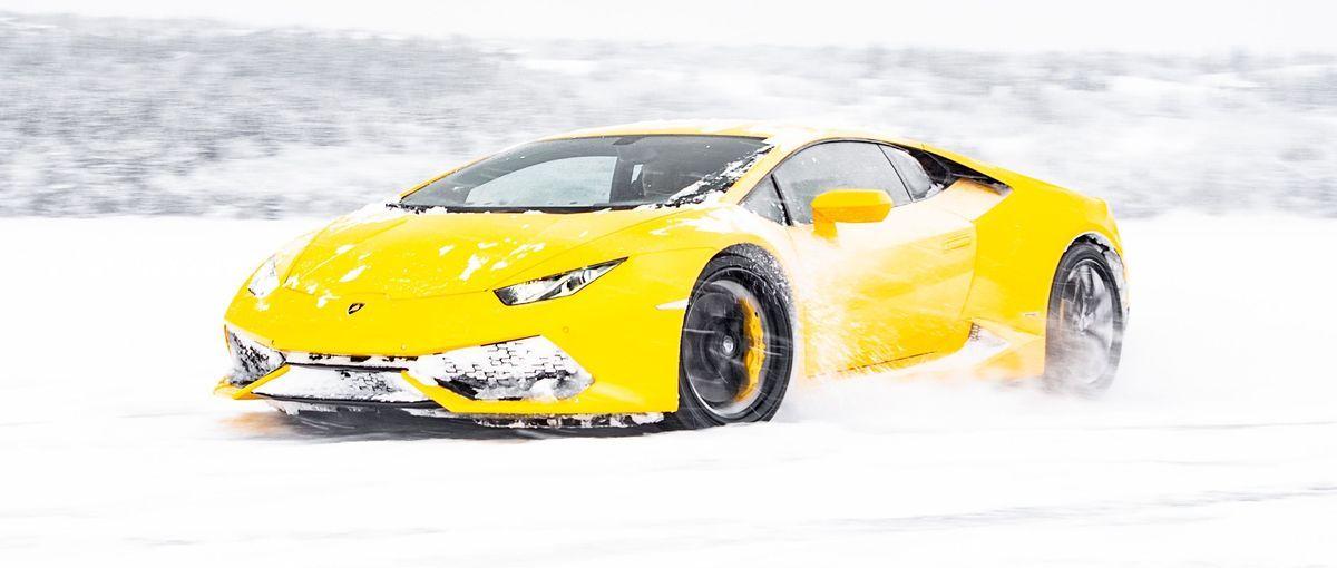 Lamborghini auf Eis