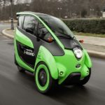 Der Toyota i-Road testet sich durch Berlin