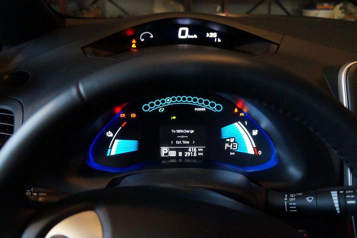 Einige Elektroautos haben geringe Ladeleistungen