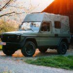 Retro-Camping mit einem Ex-Militär