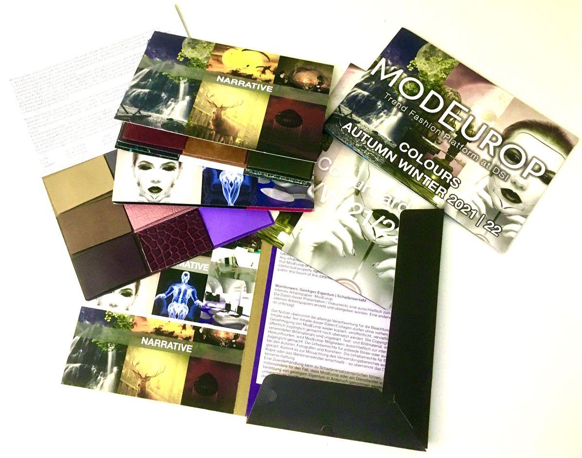 ModEurop Colour Card Herbst/Winter 2021/22