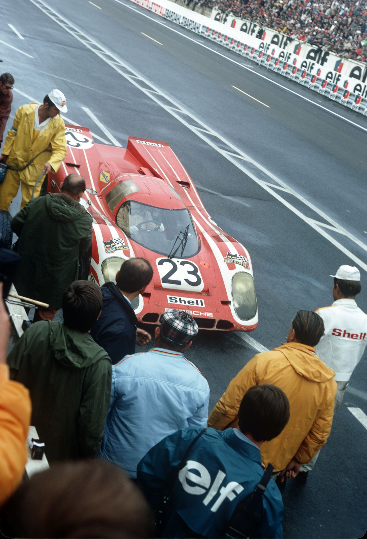 """Le-Mans-Sieger 1970: Porsche 917 KH """"Nr. 23""""."""