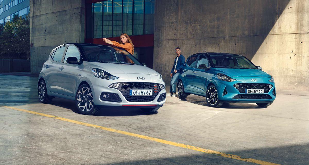 Pressefotos im Influencer-Style sollen einer jungen Zielgruppe den Hyundai i10 N-Line schmackhaft machen.