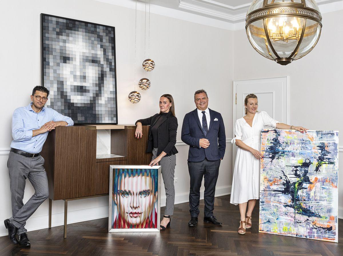 Hasan Yigit, Tina Lüngen, Carsten Fritz (Steigenberger Parkhotel Düsseldorf), Theresa Kallrath