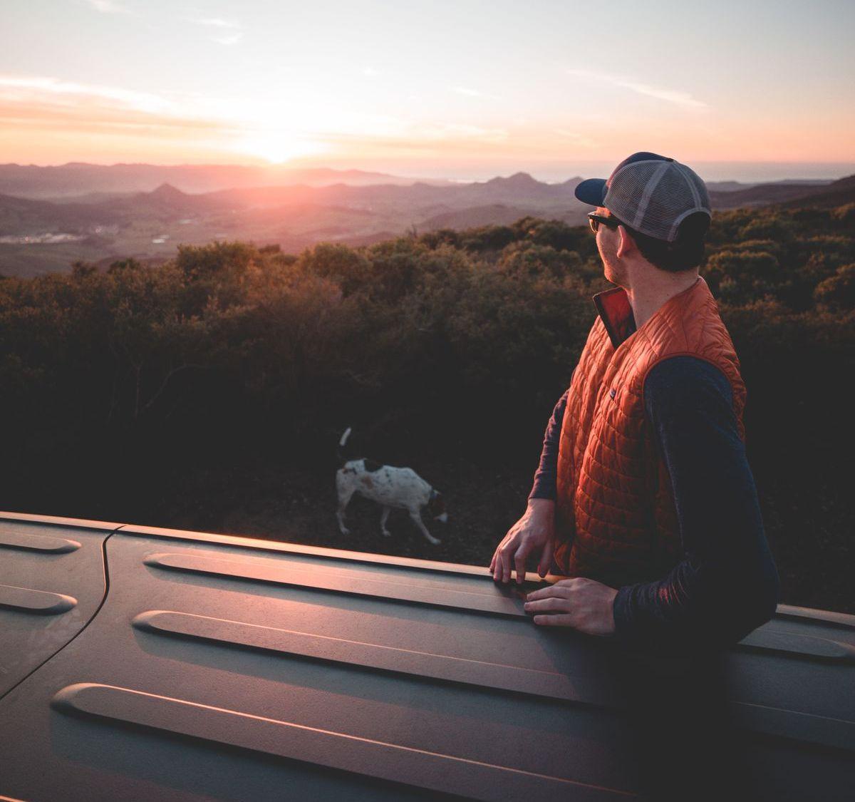 Haustiere reisen im Camper mit
