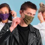 Neue Mund-Nasen-Bedeckungen von Denim-Brand