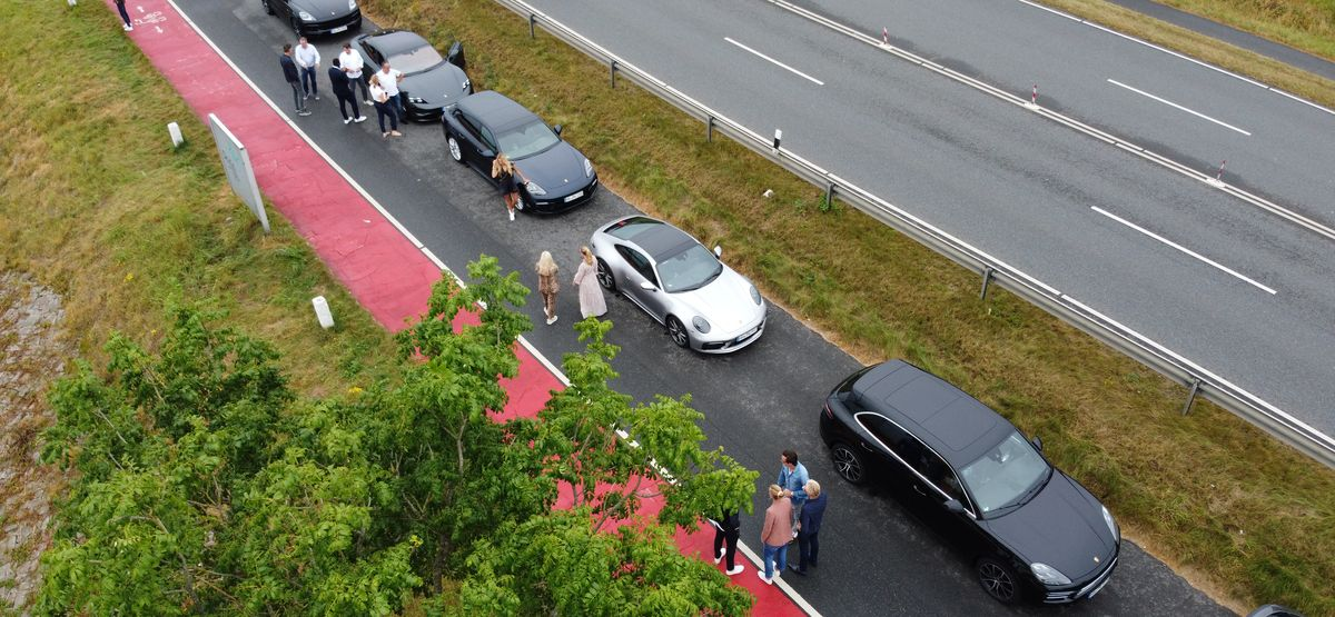 Rasante Porsche-Ausfahrt mit der Memberslounge