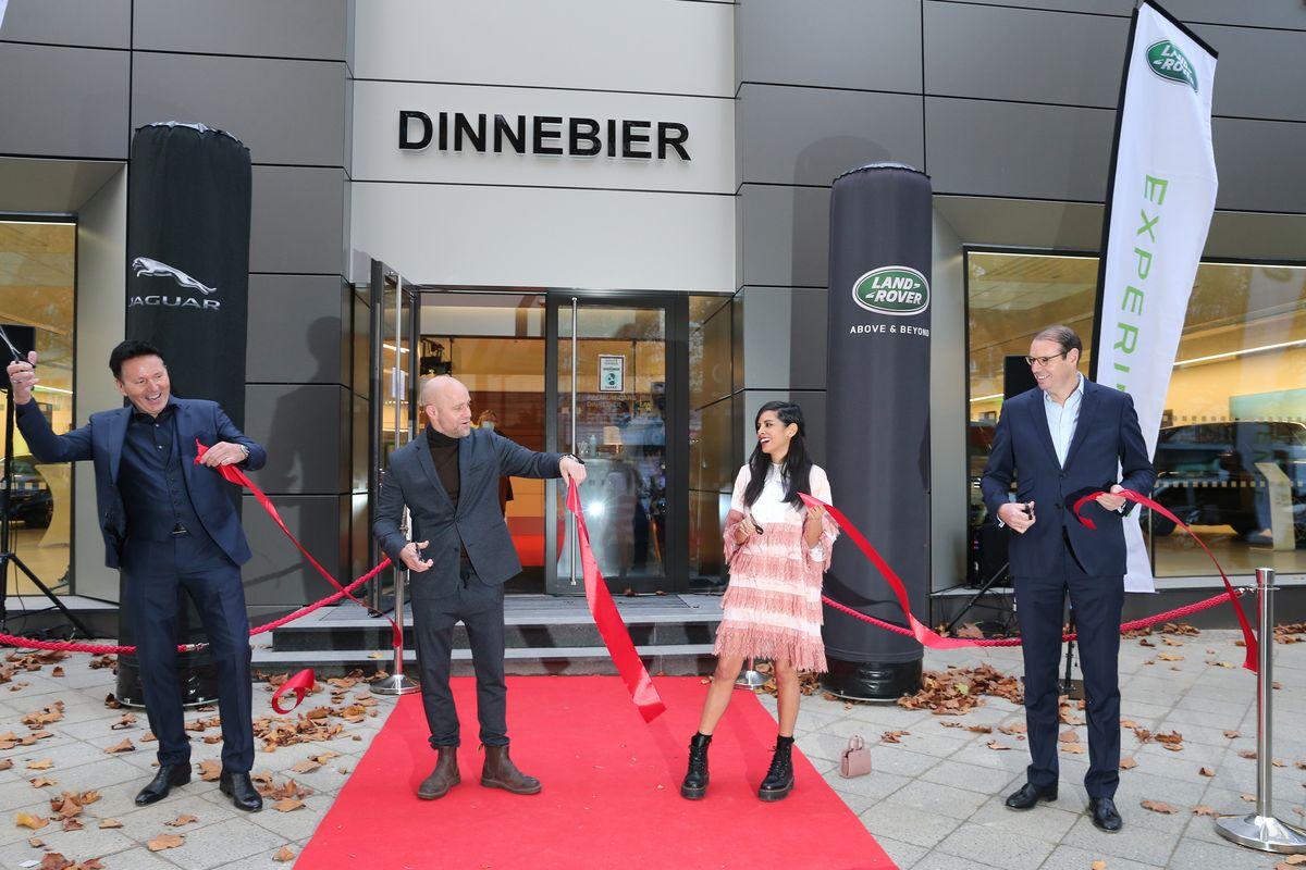 Uwe Dinnebier (Dinnebier Gruppe), Jürgen Vogel, Collien Ulmen-Fernandes, Hanno Kirner (Jaguar Land Rover Deutschland)