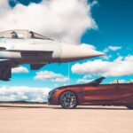 Eurofighter Typhoon trifft BMW M8: Foliertes Rendezvous am Fliegerhorst Laage
