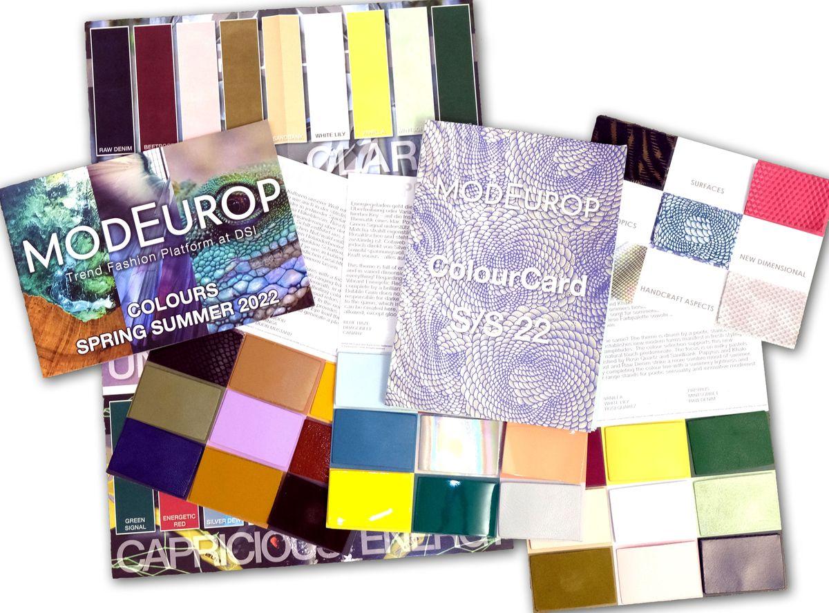 ModEurop ColourCard Frühjahr/Sommer 2022