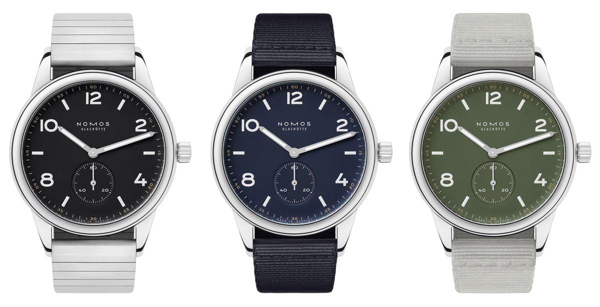 Nomos-Neuheiten zum Uhrenfrühjahr 2021. Club Automat kommt in drei neuen Farben.