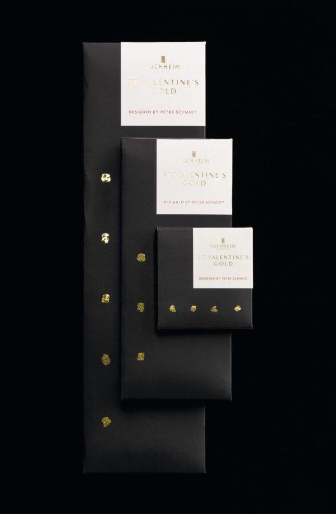 Packaging-Design für Saint Valentine Schokolade