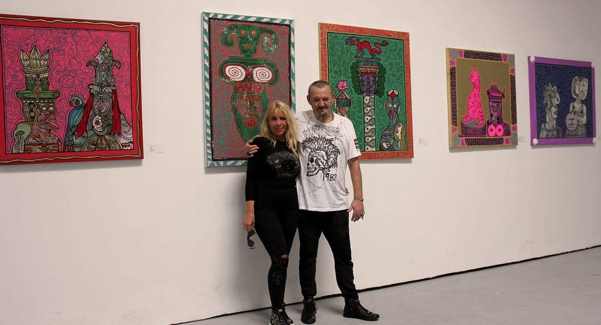 Horst Kordes mit Ehefrau Karina bei einer Ausstellung in Peking