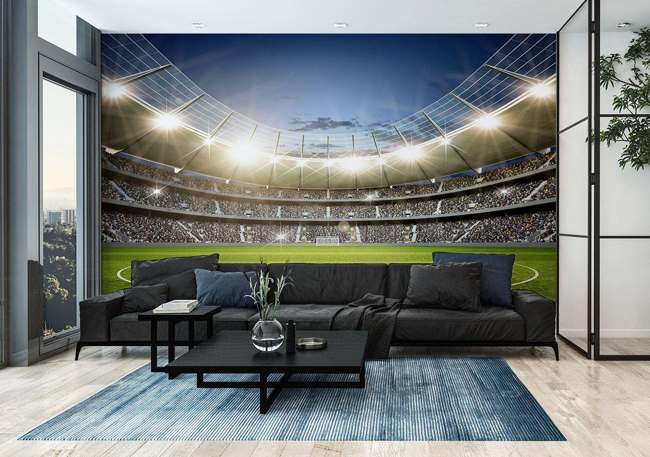 Fototapete Fußballstadion im Wohnzimmer