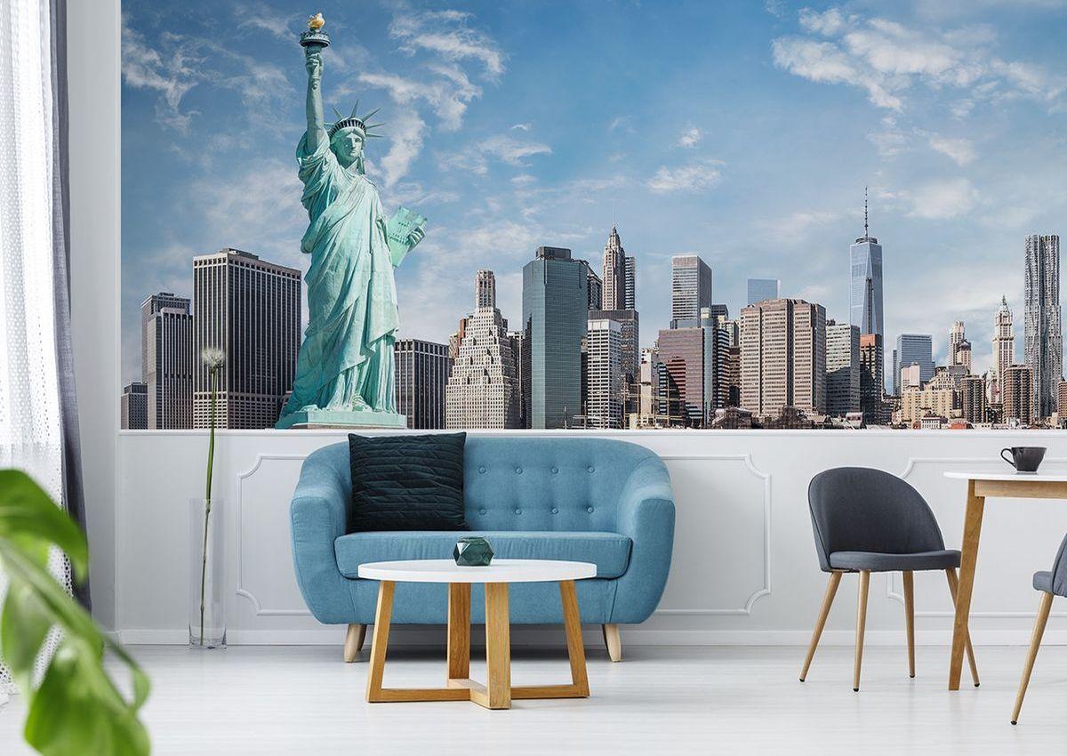 Fototapete New York Freiheitsstatue im Wohnzimmer