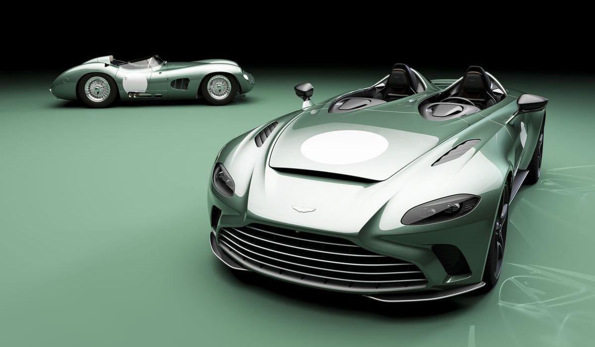 Aston Martin V12 Speedster DBR1 mit dem Original