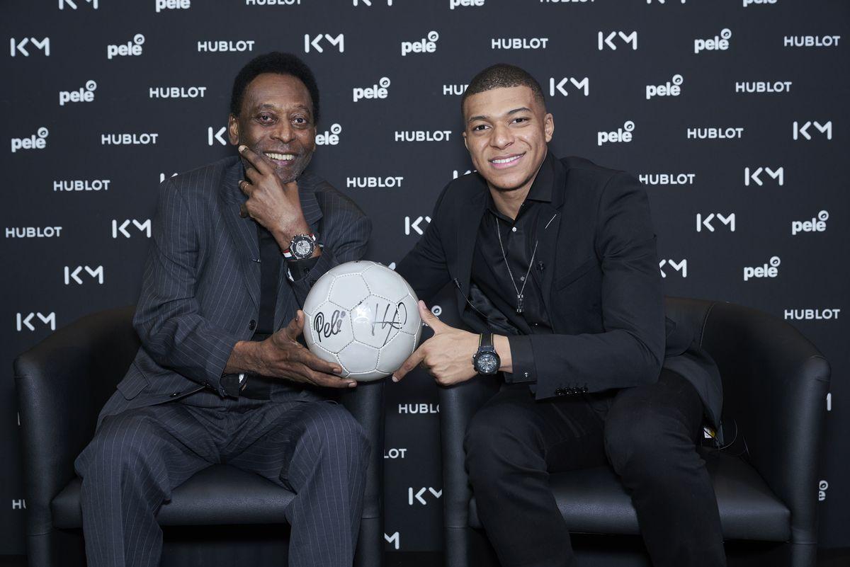 Der legendäre Pelé und Kylian Mbappé von Paris St. Germain.
