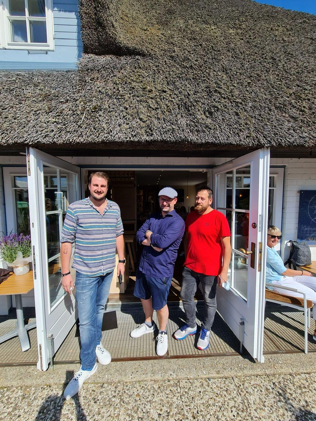 Simon Kopp, Stephan Wagner und Mario Schober, Geschäfsführer GenussKontor Sylt